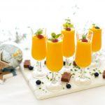coctel espumoso de naranja
