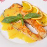 salmon con salsa de vino