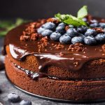 pastel de chocolate con vino tinto