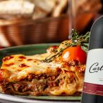 lasagna al vino tinto